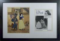 Snow White Sericel cel  Dopey New Frame Signed Original Voice of Snow White