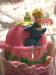 Disney Princess CINDERELLA Pink 3D Figural Nightlight Tabletop Battery Oper. b