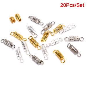 20Pcs/Set Alloy Screw Clasps Cylinder Connectors Finding DIY Making Brace`