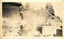 Indian Temple Ruins? India? RPPC ca 1910s Vintage Real Photo Postcard