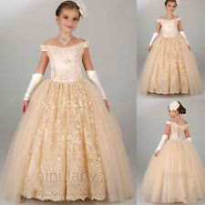 Neuf Robe de communion princesse fille mariage robe demoiselle d honneur 2-14