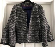 J Crew Tweed Sequin Lady Jacket Ruffle Bell Sleeves LNC