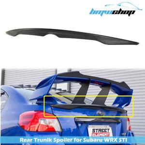 #AU Fit For Subaru WRX STI 4D Sedan Sport D Look Rear Trunk Spoiler Unpainted