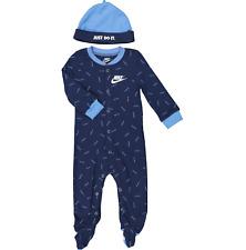 Nike Bebé Niño 2pc Set * de patas Babygrow y sombrero NB 3M 6M 9M sólo hágalo repetir Logo