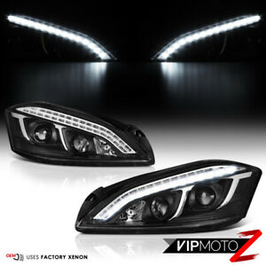 [LATEST DESIGN DRL] For 07-13 Mercedes W221 S Class AMG LED Black Headlight D1S