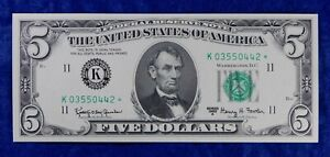 1963-A $5 Federal Reserve Currency Banknote  **Star Note**