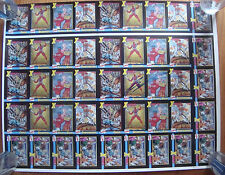 X-Force Skybox Prototype Uncut Card Sheet Signed Rob Liefeld Deadpool Rare COA