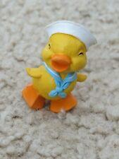 💖 Easter yellow Duck Navy sailor suit & hat 💖 Hallmark Merry Miniatures 1986
