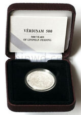Latvia 5 euro 2015  silver 500 years of Livonian Ferding (#2042)