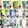 Waterproof Fabric Health Spa Zen Shower Curtain Liner Bathroom Bath Mat & Hooks