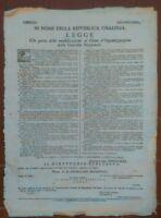 1796 MILANO MILITARIA: PROCLAMA NAPOLEONE SU ORGANIZZAZIONE GUARDIA NAZIONALE