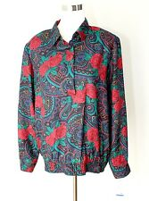 Vintage Nwt Alfred Dunner Casual Top / Blouse ~ Roses / Paisley Rayon ~ Sz. 16