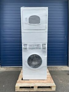Ipso ILC 88 8KG Coin-Op Stacked Self Heat Washer/Electric Dryer