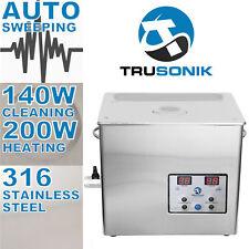 TruSonik Stainless Steel 5l Liter Heated Ultrasonic Cleaner Heater Timer 5 R