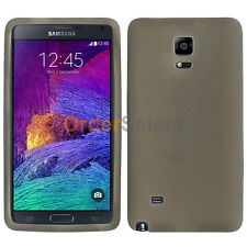 NEW Soft Slim Rubber Gel Case Skin for Android Phone Samsung Galaxy Note 4 Gray