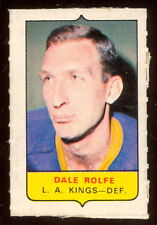 1969-70 OPC O-PEE-CHEE MINI 4 in 1 DALE ROLFE L A KINGS  EX+ STAMP Sticker card