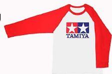 Tamiya T-Shirt w/L.R.Sleeve(Red) L # 66736