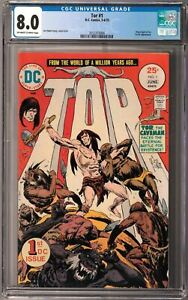 Tor #1 CGC 8.0 (May-Jun 1975, DC) Joe Kubert story & art, New origin, 1st DC app