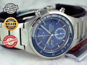 SEIKO Criteria Alarm Chronograph SNA087 SNA087P1 Men's Blue Dial Steel Watch