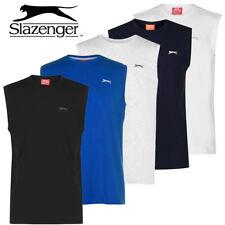 Mens Vest Top Slazenger Sleeveless Summer Gym T Shirt Tee Size M L XL XXL 3XL