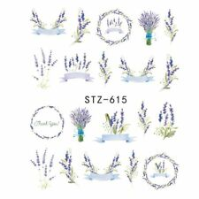New 3D Nail Art DIY Transfer Sticker Flower Decals Manicure Decoration Tips 5Pcs