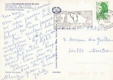 Chamonix Mont Blanc Glacier France Postcard 1984 used VGC