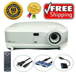 NEC VT670 3LCD Projector Portable Refurbished HD 1080i HDMI-adapter Remote