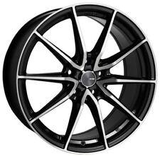 18x8 Enkei Rims DRACO 5x100 +45 Black Wheels Rims Set(4)