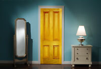 Door Mural Front door Yellow View Wall Stickers Decal Wallpaper 311
