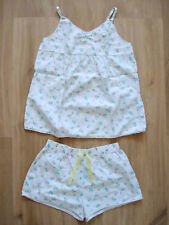 M&S KIDS girl's floral pyjama set – Size 9-10 years (140cm)