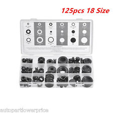 125 pcs Rubber Grommet Assortment Set Firewall Wiring Electrical Wire Gasket Kit