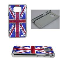 Union Jack Flag Diamond Bling Back Hard Case Cover For Samsung Galaxy S2 i9100