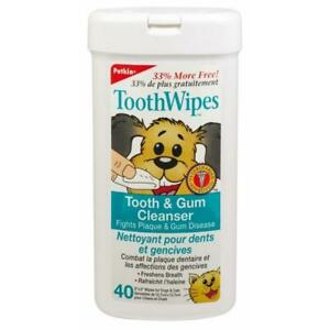 Petkin Pet Tooth Wipes 40 Pack