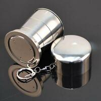 Portable Stainless Steel Folding Cup Telescopic Collapsible For Travel Camping D