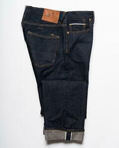 PRPS Goods & Co. Dark Blue Selvedge Denim Low Rise Barracuda Fit Jeans 32
