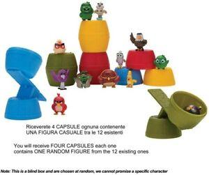 ANGRY BIRDS Lotto 4 CAPSULE BARILI CATABLIND Mini Figure SOPRESA Originali