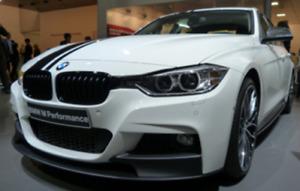 Genuine BMW M Performance Front Lower Attachment Matt Black NEW!