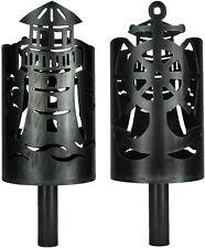 Leuchtturm Fackel mit Anker und Schiffsrudermotiv -Set mit Stiel und Wachsrollen