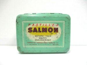 """Ancienne boite en tôle publicitaire : """" Pastilles SALMON """""""