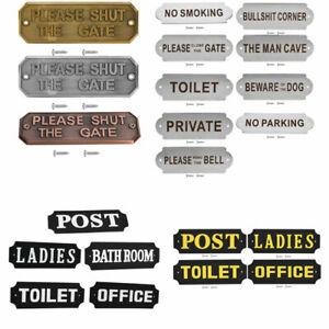Personalised Mini Number Novelty Sign Wall Door Home Bedroom Plaque Kids