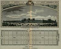 24x32 Bird/'s Eye View 1876 Louisville Kentucky Vintage Style City Map