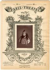 Cliché Pierre Petit, Paris-Théâtre, Lassalle, chanteur Vintage albumen Print T