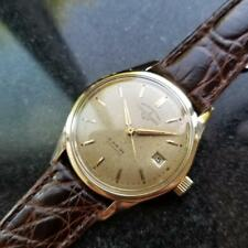 Vintage ULYSSE NARDIN Chronometer Automatic w/ date Gold-Capped c.1950s LV528