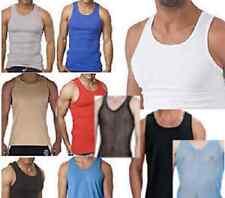 hombre camiseta de tirantes 100% Algodón verano ejercicio gimnasio sin mangas