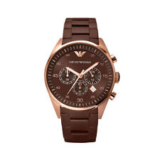 Emporio Armani AR5890 Brown Silicone Watch