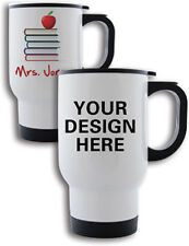 Personalised Travel Mug White Idea Gift for Christmas - Any Image Logo or Text