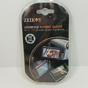 New Zeikos 3 Pieces LCD Universal Screen Protector Guard For Camera Camcorder