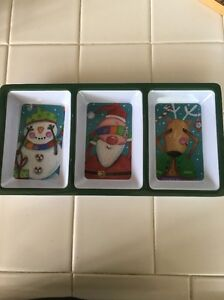 ~Gibson Christmas~Melamine Serving Tray~Party Nuts or Candy Dish~