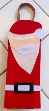 New Felt Santa Claus Christmas Wine Bottle Holder Gift Tote Bag
