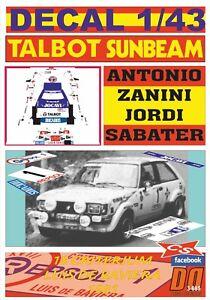 DECAL 1/43 TALBOT SUNBEAM LOTUS A.ZANINI C.LUIS DE BAVIERA 1981 2nd (09)